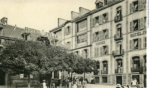 Vue sur l'Hotel Julia et son Annexe